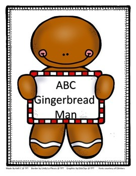 Parent Pack- Gingerbread Man Alphabet and Rhyming Book