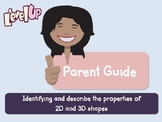 Parent Pack - Identifying and describe the properties of 2D and 3D shapes