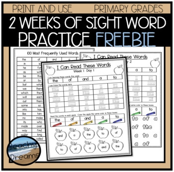 Parent Pack- Reading Words Pack for the 100 Most Frequentl