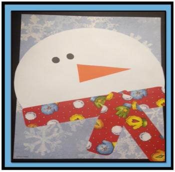Snowman Faces Art Project