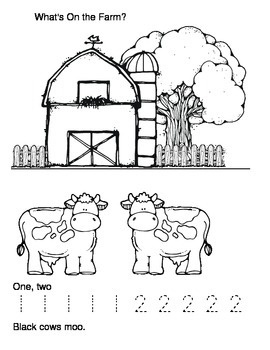 Parent Pack- What is On the Farm Number Book (Numbers 1-10)