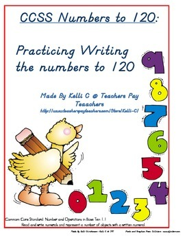Parent Pack- Writing Numbers to 120