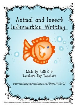 Parent Pack- Writing and Researching Animals and Insects