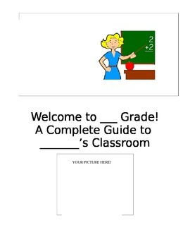 Parent Packet #2 - Beginning of the School Year EDITABLE
