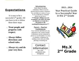 Parent Pamphlet - Beginning of the Year