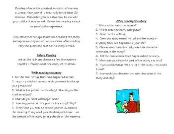 Parent Resource- Questions to Ask Your Child Pamphlets K-2 & 3-5)