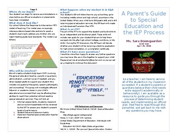 Parent Faq Pamphlet For The Iep Process Timeline By Sara S Special Shop