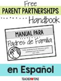 Parent Partnerships Handbook  en Español for Virtual Class