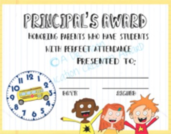 Parent Perfect Attendance Award