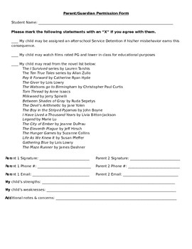 Parent Permission Form