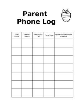 Parent Phone Log