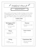 Parent Pin-Ups for Journeys Lessons All Units 1-6 Bundle