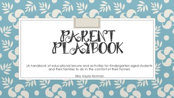 Parent Playbook- Emergent Literacy at Home