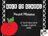 Parent Pleaser Notes