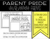 Parent Pride Involvement Forms