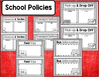 Classroom Procedures for PARENTS Book EDITABLE