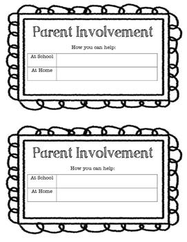 Parent Procedures and Information Booklet!