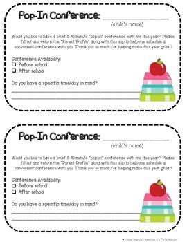 Classroom Connections- Parent Profile & Pop-in Conferences