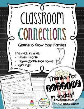 Classroom Connections- Parent Profile & Pop-in Conferences