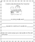 Parent Progress Communication