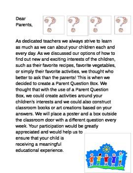 Parent Question Box Letter