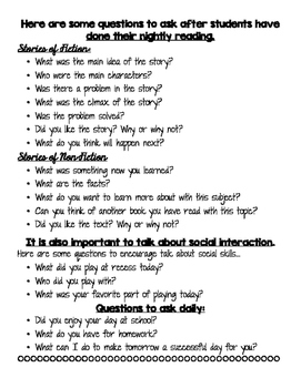 Parent Question Guide
