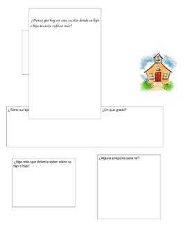 Parent Questionaire (Spanish)