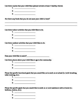 Parent Questionnaire