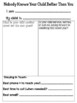 Parent Questionnaire for the first Parent Conference Day