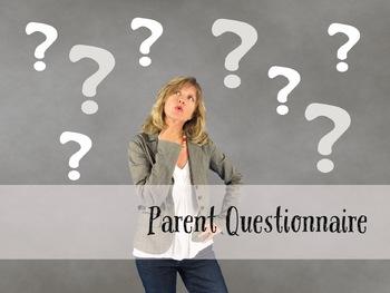 Parent Questionnaire (Editable)