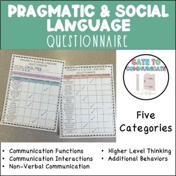 Parent Questionnaire - Pragmatics and Social Communication