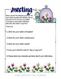 Parent Questionnaire for IEP Meetings