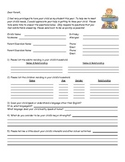 Parent Questionnaire - to get to know the students