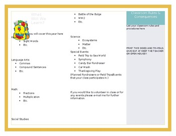 Parent Quick Reference Brochure