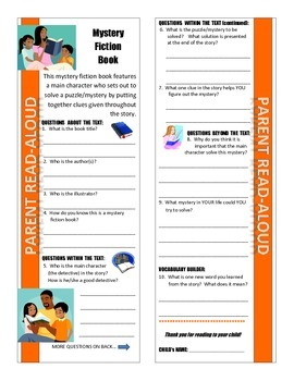 Parent Read-Aloud Program Discussion Guides (for Literary Genres)