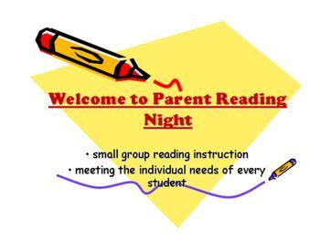 Parent Reading Night