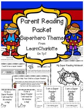 Parent Reading Packet Superhero Theme