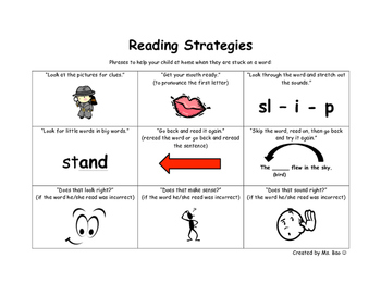Parent Reading Strategies Guide