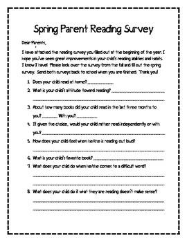 Parent Reading Survey