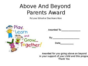Parent Recognition Awards