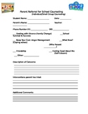 Parent Referral Form for School Counseling