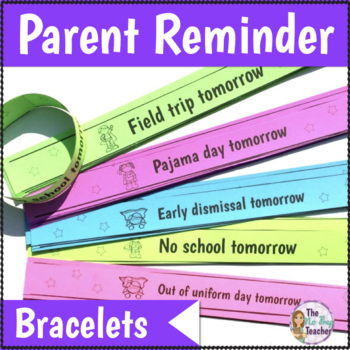 Parent Reminder Bracelets in English and Spanish