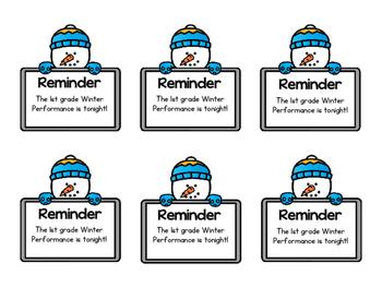 Parent Reminder Sticky Notes - Editable