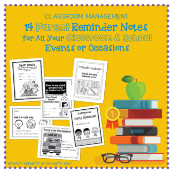 Parent Reminder Notes for Events, Classroom & Students