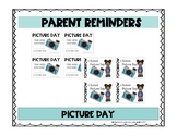Parent Reminder Picture Day