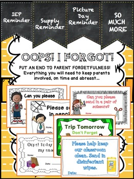 Parent Reminders For All Occasions