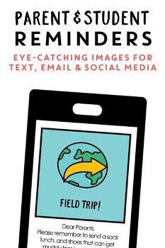 Parent Reminders: Printables and Email Images