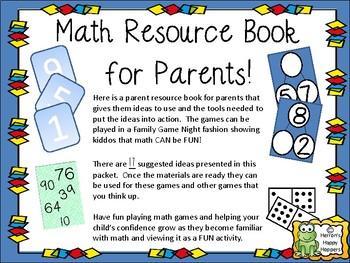Parent Resource Book to Help Teach Math Skills