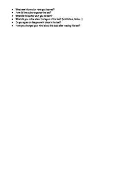 Parent Resource: Comprehension Questions