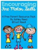 Parent Resource Packet: Fine Motor Skills {FREEBIE}